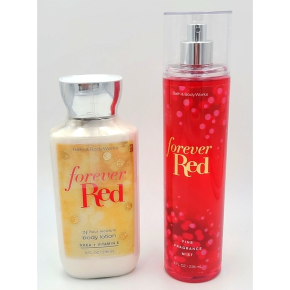"""🆕️ Bath & Body Works """"Forever Red"""" Set"""